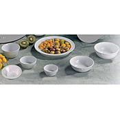 "Thunder Group Ns701W Nustone White Deep Compartment Plates 8-3/4"" Dia. - Dinner Plates"