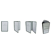 Economy 4-Page Clear-View Menu Folder - Menu Holders