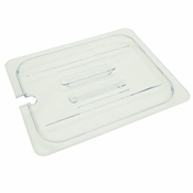 Thunder Group Plpa7120Cs 1/2-Size Slotted Polycarbonate Food Pan Lid - Steam Table Pan Lids