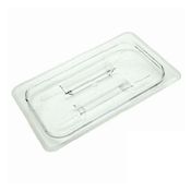 Thunder Group Plpa7130C 1/3-Size Solid Polycarbonate Food Pan Lid - Steam Table Pan Lids