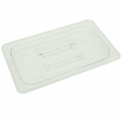 Thunder Group Plpa7140C 1/4-Size Solid Polycarbonate Food Pan Lid - Steam Table Pan Lids