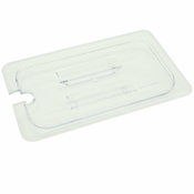Thunder Group Plpa7130Cs 1/3-Size Slotted Polycarbonate Food Pan Lid - Steam Table Pan Lids