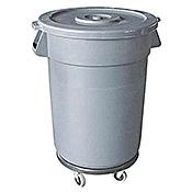 Economy 32 Gallon Gray Waste Container