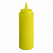 Economy 8 oz Yellow Squeeze Bottle - Foodservice Essentials