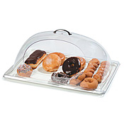 "Carlisle 12"" x 10"" Center-Cut Polycarbonate Display Covers - Servingware"
