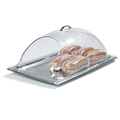 "Carlisle 12"" x 10"" End-Cut Polycarbonate Display Covers - Servingware"