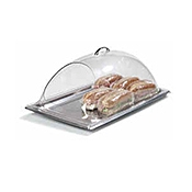 "Carlisle 12"" x 20"" End-Cut Polycarbonate Display Covers - Servingware"