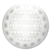 "Party Essentials N1612 16"" Diamond Cut Round Tray - Party Essentials"