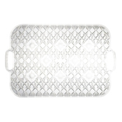 "Party Essentials N19136 19"" x 13"" Diamond Cut Tray with Handles - Party Essentials"