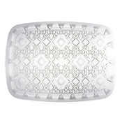 "Party Essentials N22166 22"" x 16.5"" Crystal Clear Diamond Cut Tray - Party Essentials"