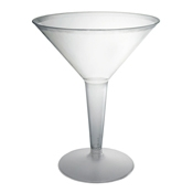 Party Essentials N81021 2-Pc Clear Plastic Martini Glasses - Party Essentials
