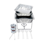 Party Essentials UPKBK-6 Disposable 11-Pc Buffet Serving Kit - Catering & Buffet Disposables
