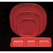 "Thunder Group Ps3008Rd Passion Red Round Square Plate 8-1/4"" - Dinner Plates"