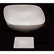 "Thunder Group Ps3204W Passion White Square Plate 4"" - Dinner Plates"