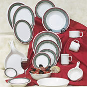 "G.E.T. Portofino Dinnerware 9"" Wide Rim Plates - Dinner Plates"