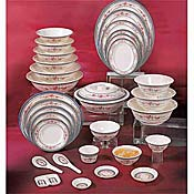 Thunder Group 1106Ar Rose Soup Plates 3 Oz. - Dinner Plates