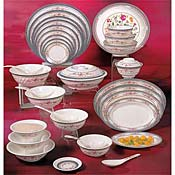 Thunder Group 1004Ar Rose Round Plates 4 Oz. - Dinner Plates