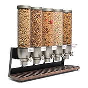 Rosseto EZ522 5-Container Table Top Cereal Dispenser - Cereal Dispensers