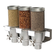 Rosseto EZ533 3-Container Spice Wall Mount Dispenser - Cereal Dispensers