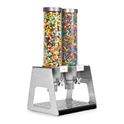 Rosseto EZ535 2-Container Table Top Cereal Dispenser - Cereal Dispensers