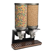 Rosseto EZ541 2-Container Table Top Cereal Dispenser - Cereal Dispensers