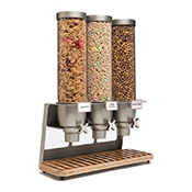 Rosseto EZ547 3-Container Table Top Cereal Dispenser - Cereal Dispensers