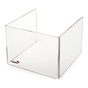 "Rosseto SA108 Short Windguard For 7"" Square Warmer - Display Risers"