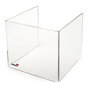 "Rosseto SA109 Tall Windguard For 10"" Square Warmer - Display Risers"