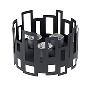"Rosseto SM111 10"" Round Black Matte Steel Buffet Warmer - Display Risers"