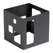 "Rosseto SM140 7"" Square Black Matte Buffet Warmer - Display Risers"