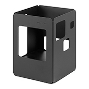 "Rosseto SM141 10"" Tall Square Black Matte Buffet Warmer - Display Risers"