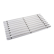Rosseto SM193 XL SS Multi-Chef Rectangle Track Grill - Display Risers