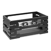 Rosseto SM195 Black Matte Steel Rectangle Warmer - Display Risers
