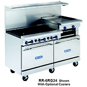 "Royal Range RR-6RG24 6 Open Burner And 24"" Broiler - Restaurant Ranges"