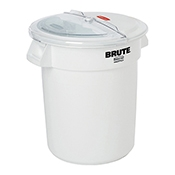 Rubbermaid FG9G7300WHT Prosave 10 Gal Container, Lid, Scoop