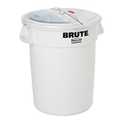 Rubbermaid FG9G7500WHT Prosave 32 Gal Container, Lid, Scoop