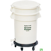 Rubbermaid FG262400WHT GreensKeeper, 20 Gal Crisper with lid, dolly - Rubbermaid