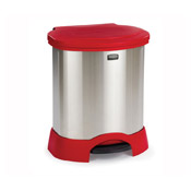 Rubbermaid Step-On 23 Gallon Stainless Steel Container - Rubbermaid