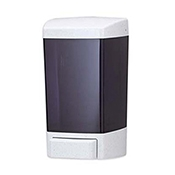 San Jamar S30TBK 30 oz. Black Classic Soap Dispensers - San Jamar