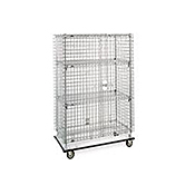 "Metro Chrome 65"" Security Carts"