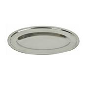 """Economy 14"""" Stainless Steel Oval Platter - Servingware"""