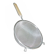 "Economy Tin Medium Double Mesh 10"" Strainer - Skimmers and Strainers"