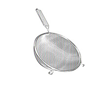 "Economy Stainless Steel Fine Double Mesh 10"" Strainer - Skimmers and Strainers"
