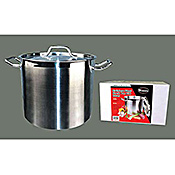 Winco 40 Qt Stainless Steel Stock Pot - Stainless Steel Stock Pots