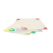 San Jamar CBGW912QS Saf-T-Grip White Cutting Board - San Jamar