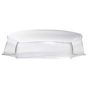Service Ideas Extra Large Clear Rain Rectangle Plate - Dinner Plates