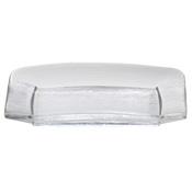 Service Ideas Medium Clear Rain Rectangle Plate - Dinner Plates