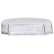 Service Ideas Small Clear Rain Rectangle Plate - Dinner Plates