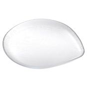 Service Ideas Medium Clear Rain Drop Plate - Dinner Plates