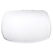 Service Ideas Small Clear Rain Coupe Square Plate - Dinner Plates